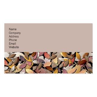 Beautiful Autumn Leaves Business Card