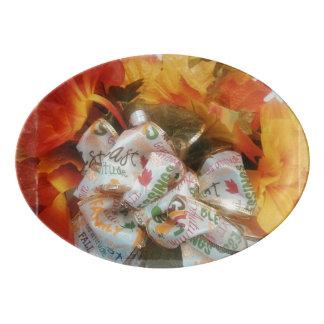"""""""Beautiful Autumn"""" Porcelain Coupe Platter"""