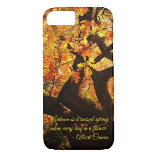 Beautiful Autumn Tree Art with Customizable Text iPhone 8/7 Case