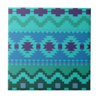 Beautiful Aztec Print Small Square Tile