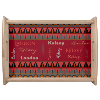 Beautiful Aztec w/Names Serving Tray