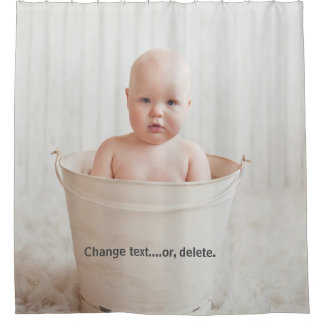 Beautiful Baby Bathing in a Bathtub Shower Curtain