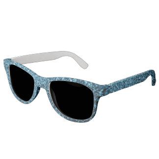 Beautiful Baby blue glitter sparkles Sunglasses