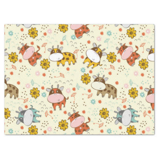 Beautiful Baby Cow Pattern Tissue Paper