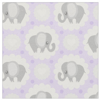 Beautiful Baby Elephant in Lavender Purple Fabric