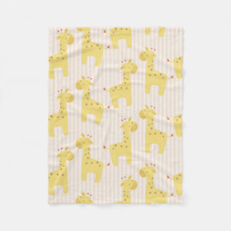 Beautiful Baby Giraffe Fleece Blanket
