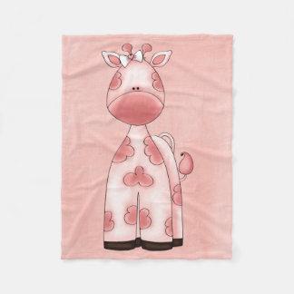 Beautiful Baby Girl Pink Giraffe Fleece Blanket