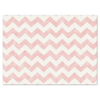 Beautiful Baby Light Pink Chevron Zig Zag Pattern Tissue Paper