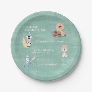 Beautiful Baby Nursery Rhymes Paper Plate