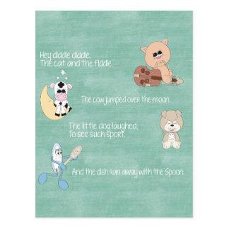 Beautiful Baby Nursery Rhymes Postcard