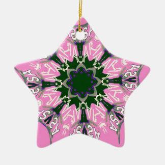 Beautiful baby pink purple shade motif monogram de ceramic star decoration