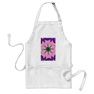 Beautiful baby pink purple shade motif monogram de standard apron