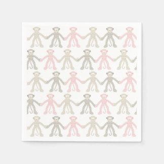 Beautiful Baby Sock Monkey Paper Napkins