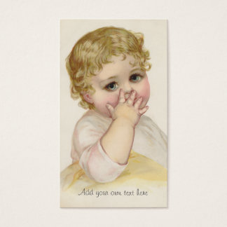 Beautiful Baby's Kiss Vintage Illustration Business Card