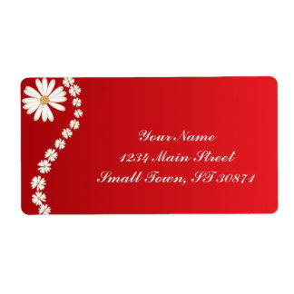 beautiful background beauty bloom flower shipping label