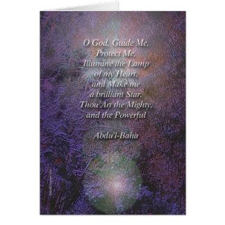 Beautiful Baha'i Prayer Card