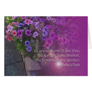 Beautiful Baha'i Unity Quotation Card