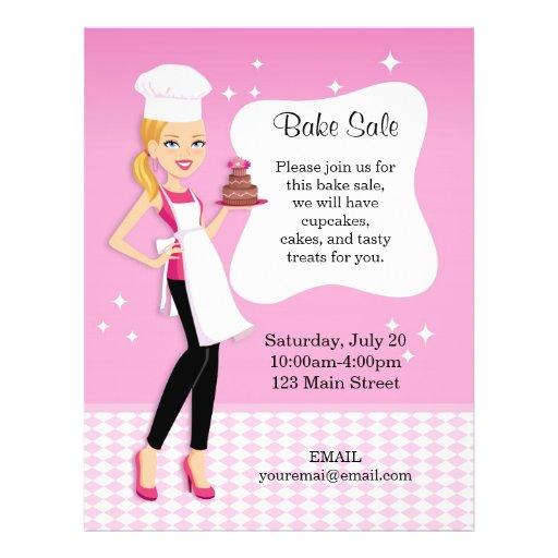 Beautiful Bake Sale Flyer personalized