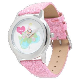 Beautiful Ballerina birds with  muffin watch