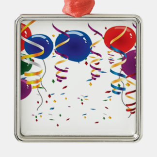 Beautiful balloons illustration design Silver-Colored square decoration