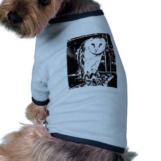 Beautiful Barn Owl in a Black & White Graphic Pet Clothing