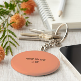 Beautiful basic button key ring basic round button key ring