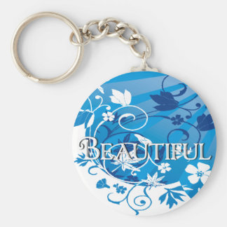 beautiful basic round button key ring