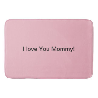 Beautiful bath mat for mommy