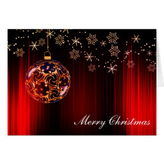 Beautiful Bauble Christmas Card with Warm Wishes