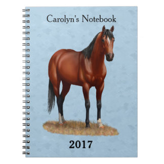 Beautiful Bay Quarter Horse Notebook