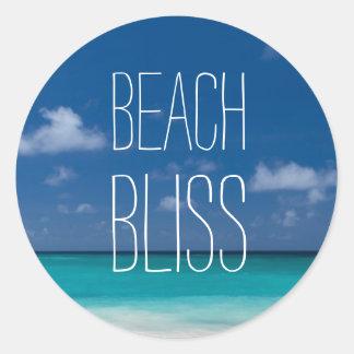 Beautiful Beach Bliss Classic Round Sticker