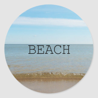 Beautiful Beach Bliss With Gentle Wave Classic Round Sticker