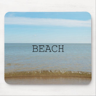 Beautiful Beach Bliss With Gentle Wave Mouse Pad
