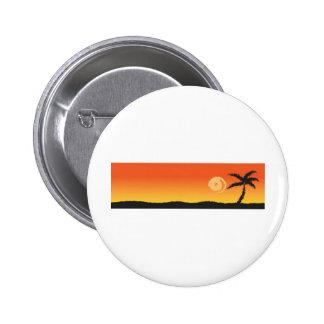 BEAUTIFUL BEACH SUNSET 6 CM ROUND BADGE