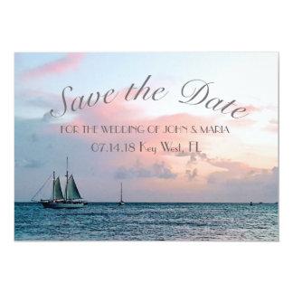 Beautiful Beach Sunset Save the Date Card