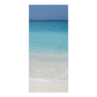 Beautiful Beach   Turks and Caicos Photo Personalized Rack Card
