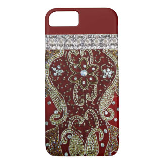 Beautiful Beaded Scarlet Pattern iPhone 7 Case