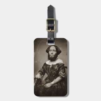 Beautiful Bearded Lady Luggage Tag