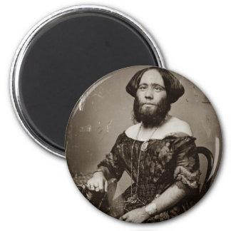 Beautiful Bearded Lady Magnet