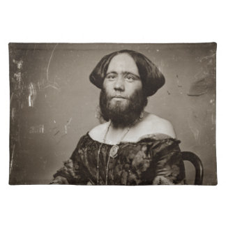 Beautiful Bearded Lady Placemat