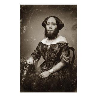 Beautiful Bearded Lady Stationery