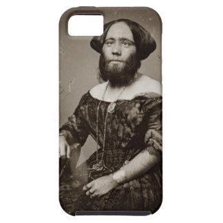 Beautiful Bearded Lady Tough iPhone 5 Case