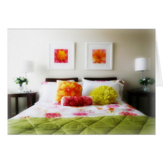 Beautiful Bed and Bedroom Decor Card