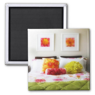 Beautiful Bed and Bedroom Decor Fridge Magnet
