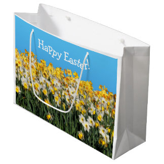 Beautiful Bed of Daffodils Large Gift Bag