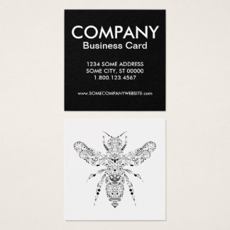 beautiful bee square business card