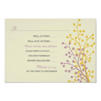 Beautiful Berries RSVP Cards