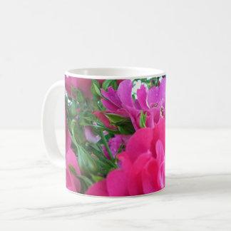 Beautiful Big Pink Roses Garden Flowers Coffee Mug