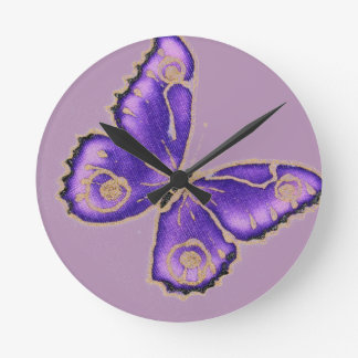 Beautiful big purple butterfly clocks