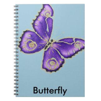 Beautiful big purple butterfly notebooks